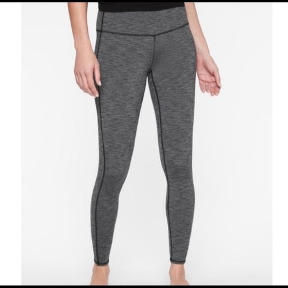 Athleta Mid Rise Chaturanga gray Leggings, Size S
